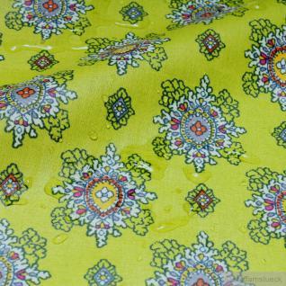 Stoff Baumwolle Acryl Provence kiwi Ornament wasserabweisend Valdrome Indienne