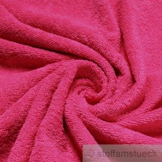 Stoff Baumwolle Frottee pink Frotté zweiseitig Baumwollstoff fuchsia weich