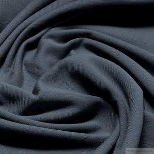 0, 5 Meter Stoff Baumwolle Single Jersey grau angeraut Sweatshirt weich dehnbar