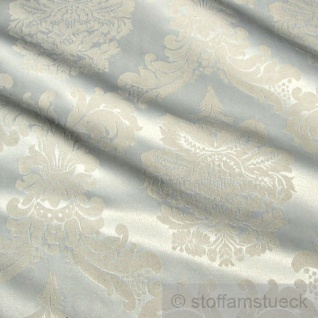 Stoff Baumwolle Polyester Jacquard creme Ornament 280 cm breit überbreit