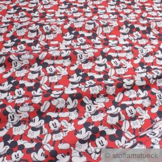 Stoff Baumwolle rot Mickey Mouse Walt Disney Baumwollstoff