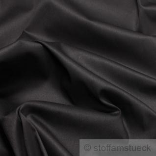 Stoff Baumwolle Elastan Satin schwarz edel