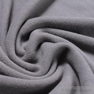 Stoff Baumwolle Fleece grau Baumwollfleece reine Baumwolle weich flauschig