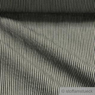 Stoff Baumwolle Lycra Köper Streifen anthrazit weiß 8.25 oz blickdicht dehnbar