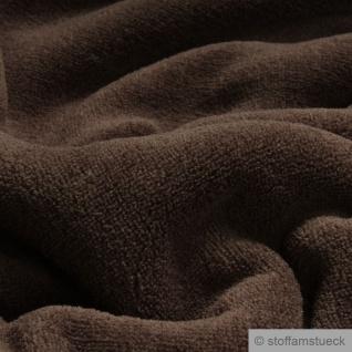 Stoff Polyester Wellness Fleece schokobraun Kuschelfleece braun - Vorschau 2