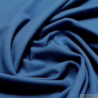 Stoff Baumwolle Elastan Single Jersey French Terry blau Sommer Sweat lapis blue