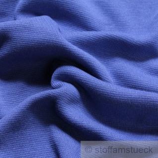 0, 5 Meter Baumwolle Elastan Bündchen kobaltblau kbA GOTS C. Pauli - Vorschau 1