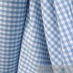 Stoff Baumwolle Bauernkaro hellblau weiß 1 cm Karo Vichy Karo beidseitig
