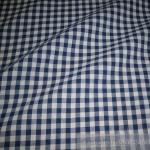 Stoff Baumwolle Bauernkaro dunkelblau weiß 1 cm Karo Vichy Karo beidseitig