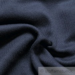 0, 5 Meter Baumwolle Lycra Bündchen dunkelblau kbA GOTS 69 cm breit C.PAULI