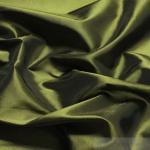 10 Meter Stoff Polyester Kleidertaft olivgrün Taft dezenter Glanz Martini Olive