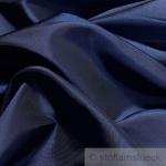 10 Meter Stoff Polyester Kleidertaft marine Taft dezenter Glanz dunkelblau