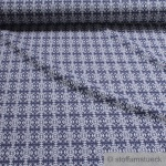 0, 5 Meter Recycelt Baumwolle Polyester Elastan Jacquard Jersey marine Ornament