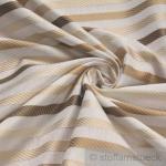 Stoff Trevira® CS Satin Streifen beige ecru gold breit 300 cm nicht brennbar B1