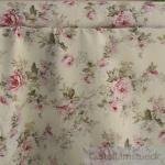 Stoff Baumwolle Polyester ecru Rose Rosen 280 cm überbreit pflegeleicht