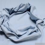 0, 5 Meter Baumwolle Elastan Bündchen hellblau kbA GOTS 82 cm breit C. PAULI