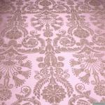 Stoff Polyester Baumwolle Jacquard Ornament rosé platin 280 cm breit