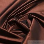 10 Meter Stoff Polyester Kleidertaft kupfer Taft dezenter Glanz