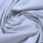 Stoff Baumwolle Vichy Karo klein hellgrau weiß 1, 5 mm Swafing Canstein