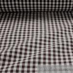 Stoff Baumwolle Bauernkaro dunkelbraun weiß 1 cm Karo Vichy Karo beidseitig