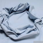 0, 5 Meter Baumwolle Lycra Bündchen hellblau kbA GOTS 82 cm breit C. PAULI