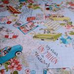 Stoff Baumwolle Polyester Acryl Reise beschichtet wasserabweisend Trip