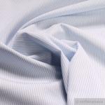 Stoff Baumwolle Zündholzstreifen hellblau weiß 1, 5 mm Swafing Caravelle