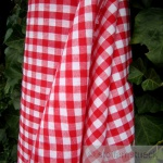 Stoff Baumwolle Bauernkaro rot weiß 1 cm Karo Vichy Karo beidseitig