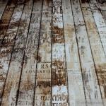 Stoff Baumwolle Polyester Rips Holzbrett Antik Holzbohle Holzplanke Vintage