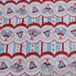 Stoff Baumwolle Acryl weiß Glöckchen Regenjacke beschichtet Schlittschuhe