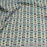 2 Meter Stoff Baumwolle Popeline pastelltürkis Mandala Baumwollstoff Blume