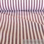 Stoff Baumwolle Bauernstreifen bordeaux weiß 1 cm Streifen