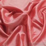 10 Meter Stoff Polyester Kleidertaft koralle Taft dezenter Glanz erdbeerrot