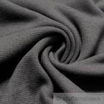 0, 5 Meter Baumwolle Elastan Bündchen dunkelgrau kbA GOTS 82 cm breit C.PAULI