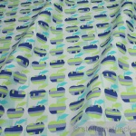 10 Meter Stoff Baumwolle hellblau Apfel Retro - Stil Baumwollstoff Apfel