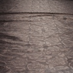 Stoff Polyester Elastan Jacquard Stretch Kleidertaft braun Rose Taft