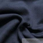 0, 5 Meter Baumwolle Elastan Bündchen dunkelblau kbA GOTS 69 cm breit C.PAULI