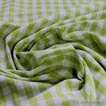 Stoff Baumwolle Bauernkaro hellgrün weiß 1 cm Karo Vichy Karo beidseitig kiwi anis