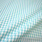 Stoff Baumwolle Bauernkaro türkis weiß 1 cm Karo Vichy Karo beidseitig