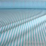 Stoff Baumwolle Bauernstreifen türkis weiß 1 cm Streifen