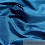 10 Meter Stoff Polyester Kleidertaft azurblau Taft dezenter Glanz blau