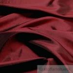 10 Meter Stoff Polyester Kleidertaft bordeaux Taft dezenter Glanz dunkelrot
