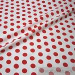 Stoff Baumwolle Punkte groß weiß rot Tupfen Dots Baumwollstoff