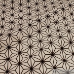 Stoff Baumwolle Polyester Rips Geometrie Stern natur schwarz Raute
