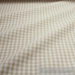 Stoff Baumwolle Bauernkaro beige weiß 1 cm Karo Vichy Karo beidseitig