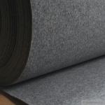 Stoff Polyester Filz hellgrau meliert stabil 4 mm dick Bastelfilz 100 cm breit grau