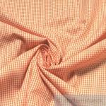 Stoff Baumwolle Vichy Karo klein orange weiß 1, 5 mm Swafing Canstein