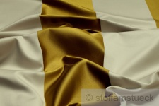 Stoff Baumwolle Seide Satin Blockstreifen beige gold 10.000 Martindale Vorhang