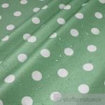 Stoff Baumwolle Acryl Punkte mint weiß Regenjacke beschichtet hellgrün