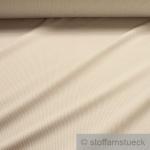 Stoff Baumwolle Zündholzstreifen beige weiß weiss 1, 5 mm Streifen schmal